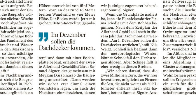 Allerhand wieder in der Märkischen Oderzeitung